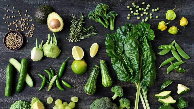 green herbs and vegetables