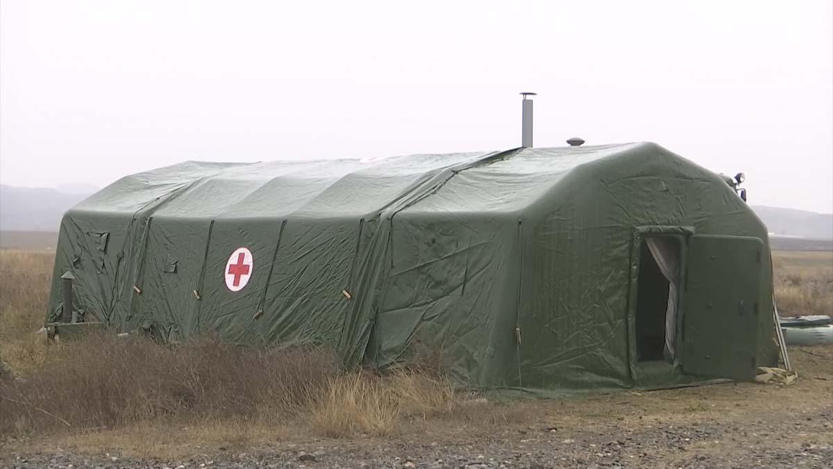 полевой госпиталь в Нагорном Карабахе