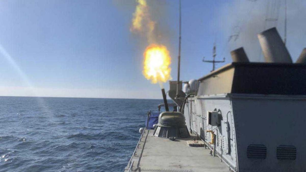 испытание корабельного оружия на корвете проект 20380
