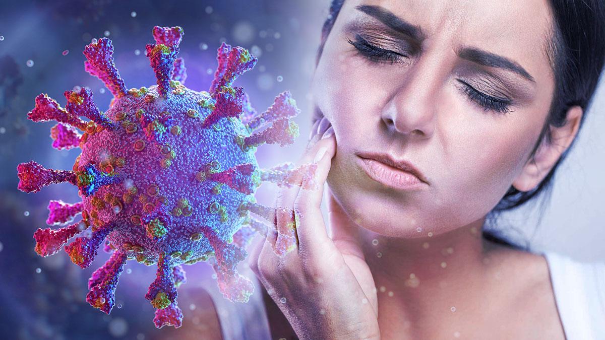 коронавирус зубная боль женщина covid-19 симптомы
