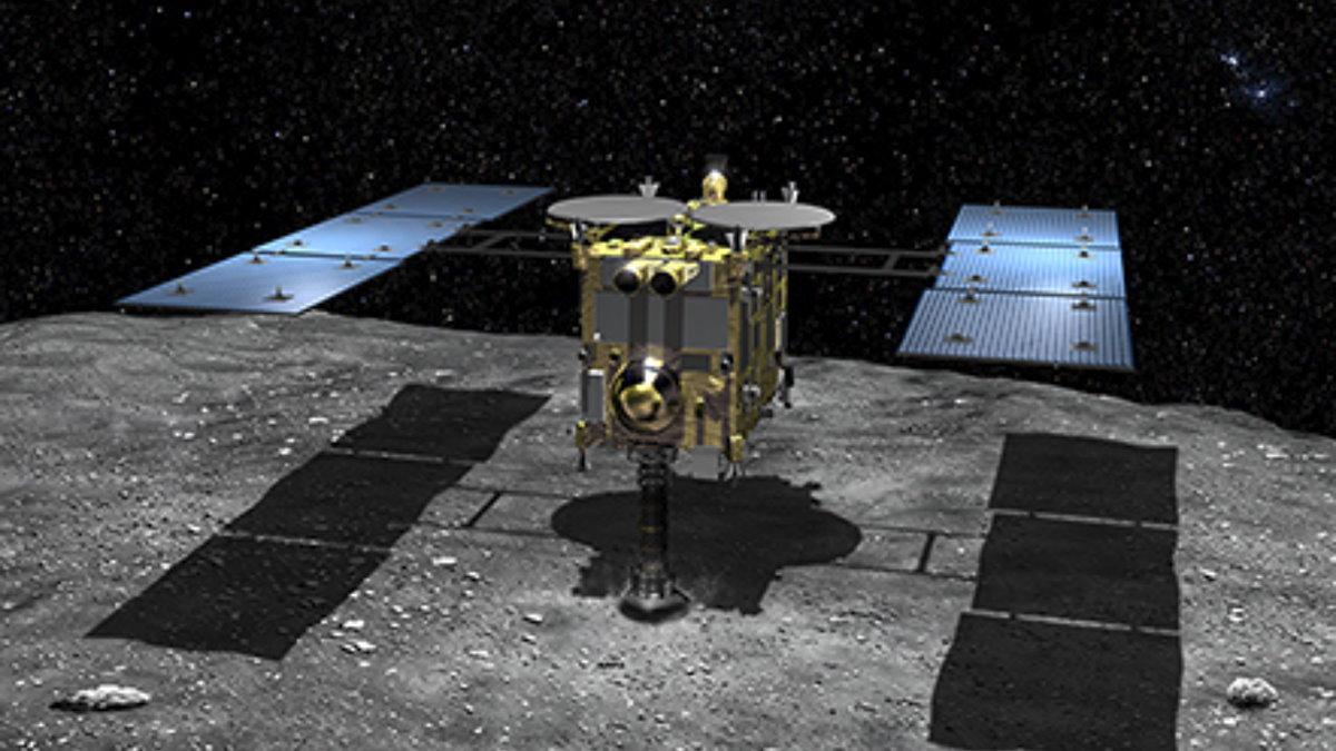 Японский космический зонд Hayabusa2 астероид Руйгу