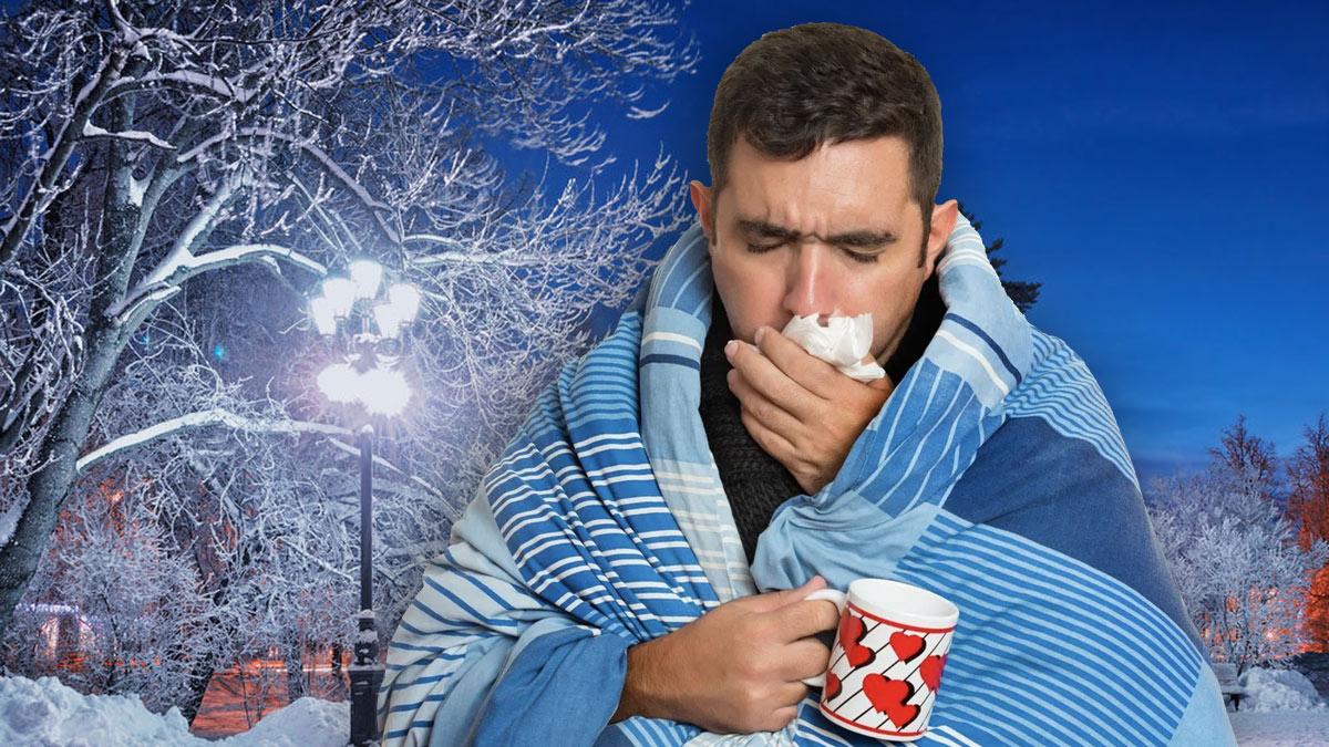 простуда зима грипп болезнь насморк температура