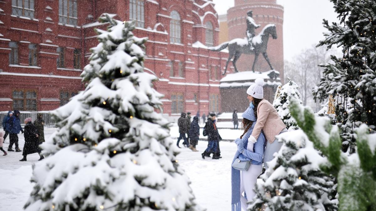 Заснеженная Москва