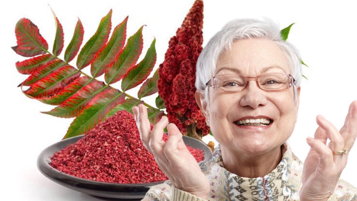 Сумах специя долголетие пожилая женщина