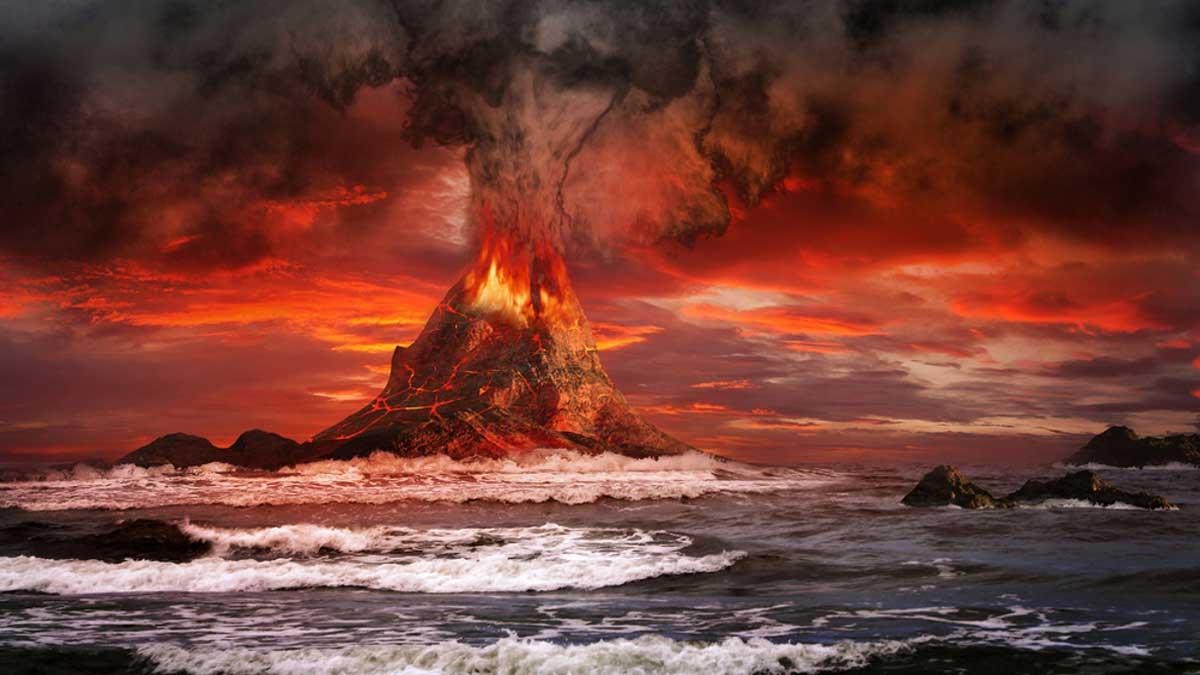 volcano eruption вулкан извержение