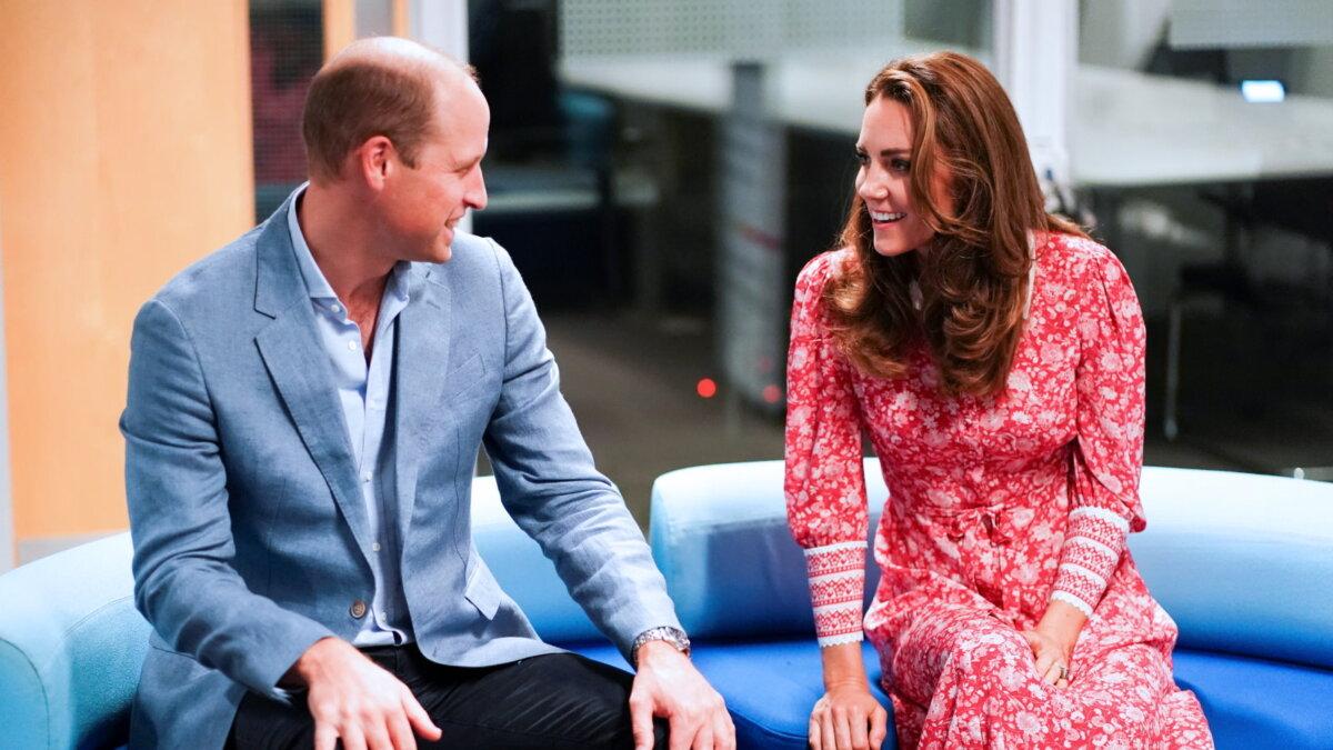 Принц Уильям и Кейт Миддлтон смотрят друг на друга