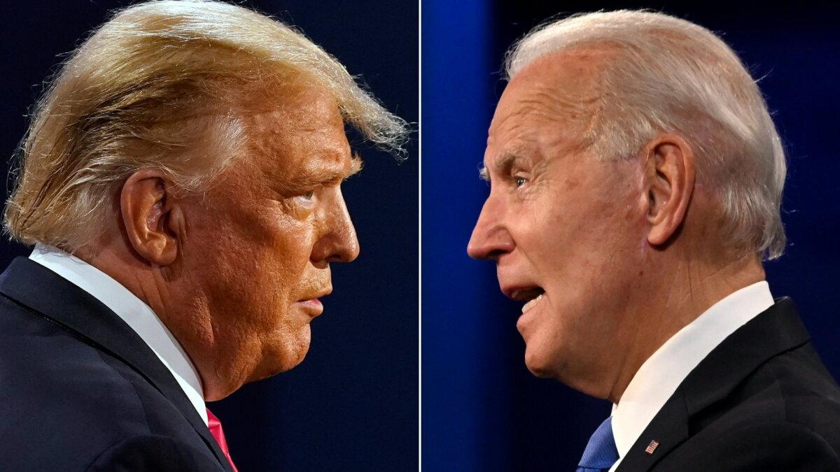 Дональд Трамп и Джозеф Байден дебаты