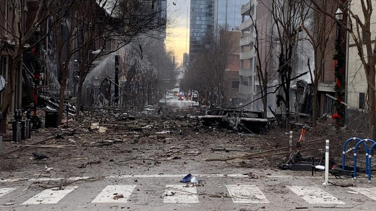 Взрыв в Нэшвилле Нашвилле США 25 12 2020