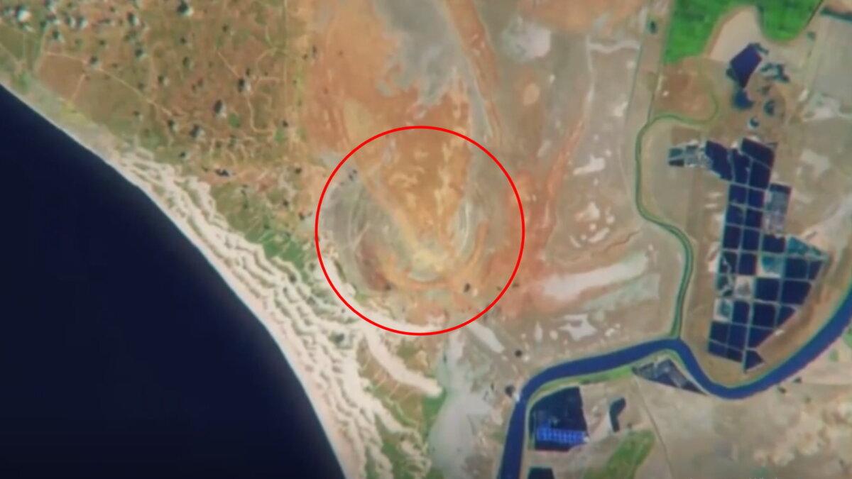 Затерянный библейский город спутниковый снимок