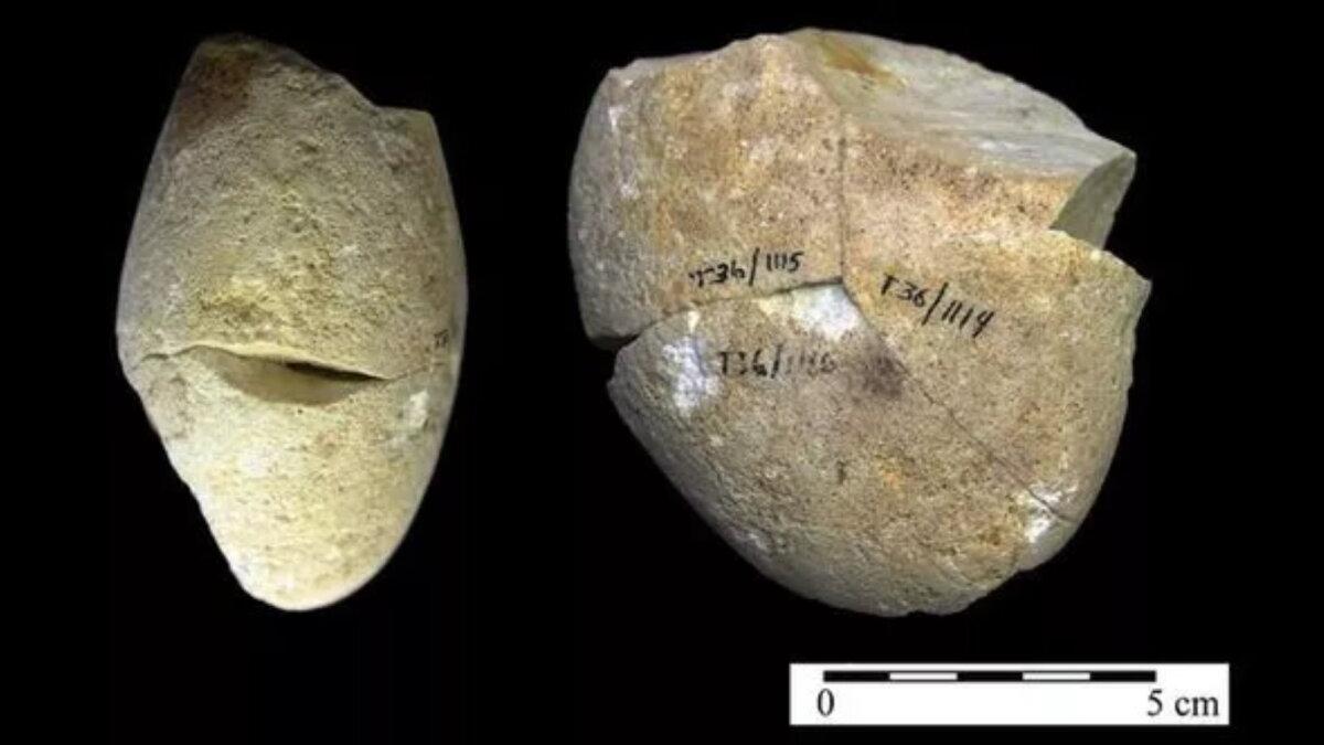 израильский камень для измельчения пищи археология