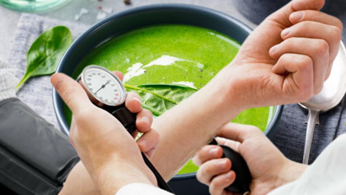 Суп из шпината и давление