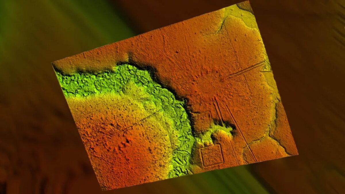 Лидарный снимок LIDAR лидар сеть деревень Амазонки