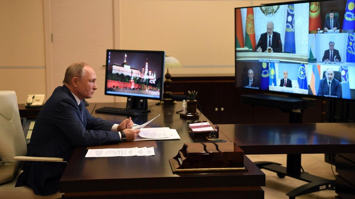 Владимир Путин Сессия Совета коллективной безопасности ОДКБ