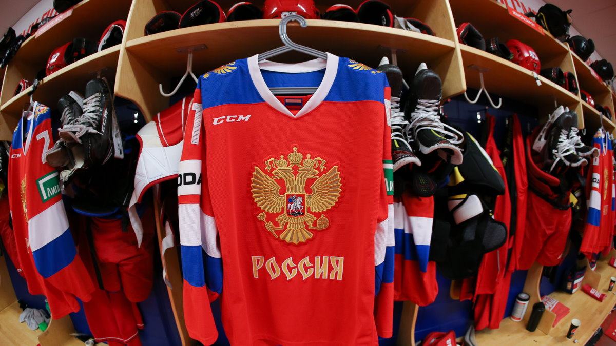 Сборная России по хоккею Хоккей Форма раздевалка