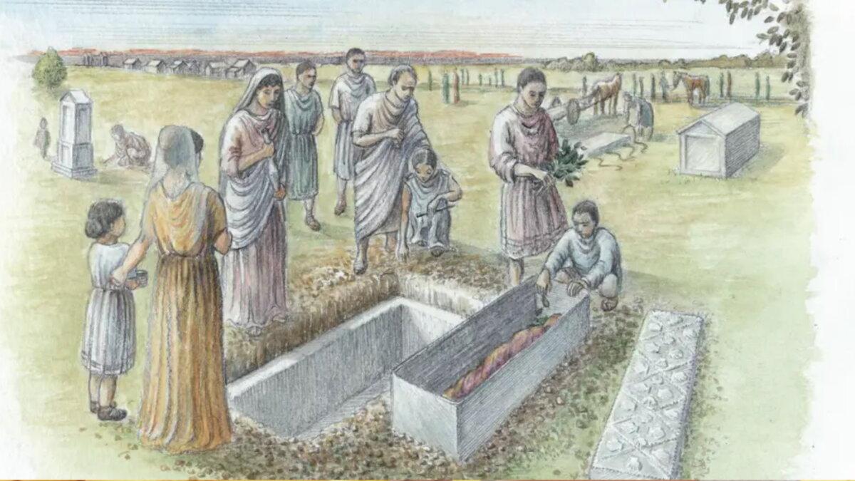 римская женщина найденная под лондонским рынком Спиталфилдс археология