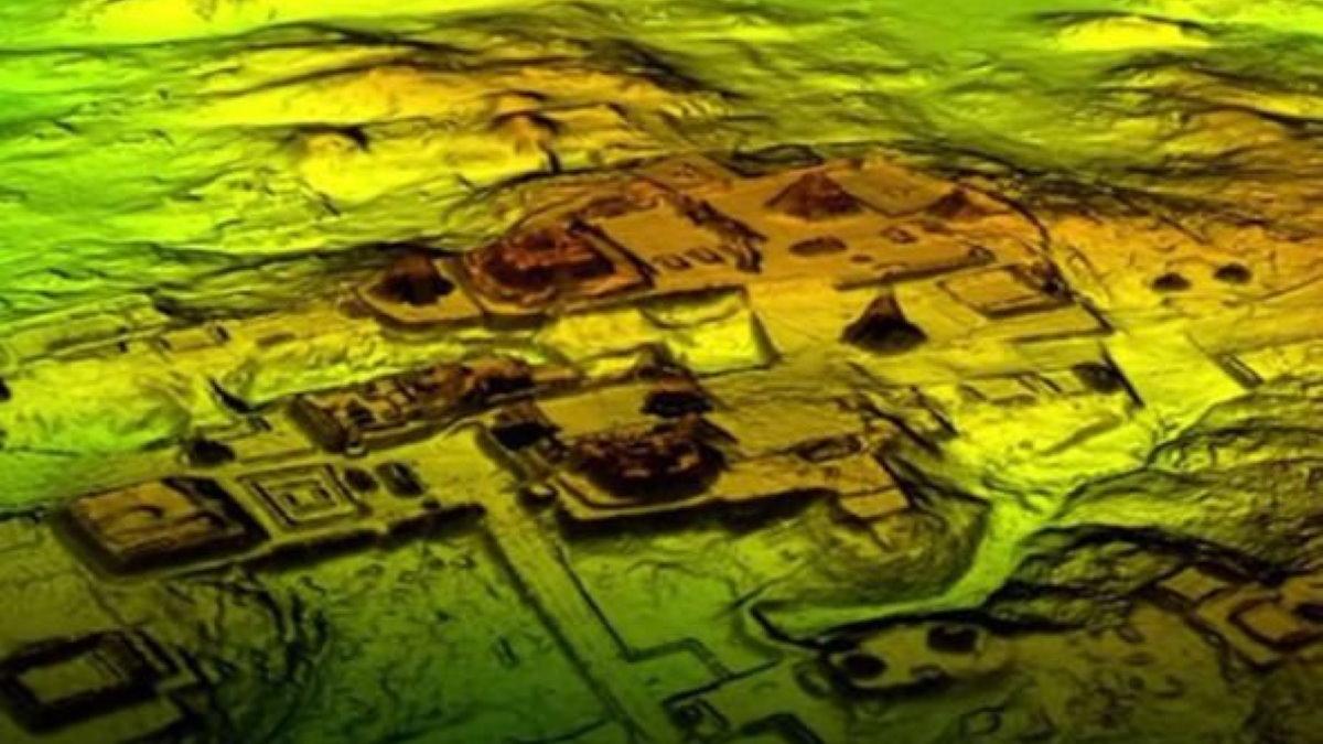 Лидарный снимок Майя LIDAR лидар два