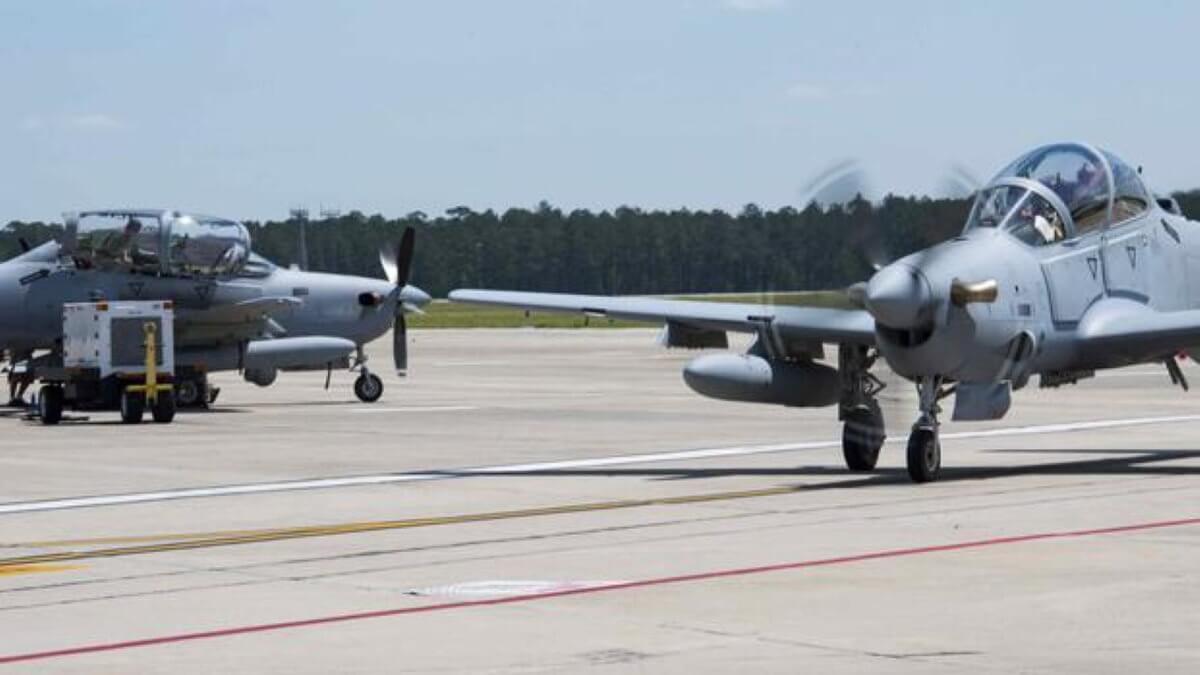 Американские штурмовики A-29 Super Tucano