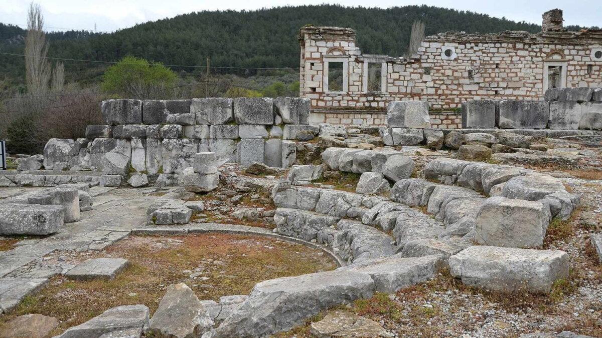 древний город Адрианауполис в Турции археология