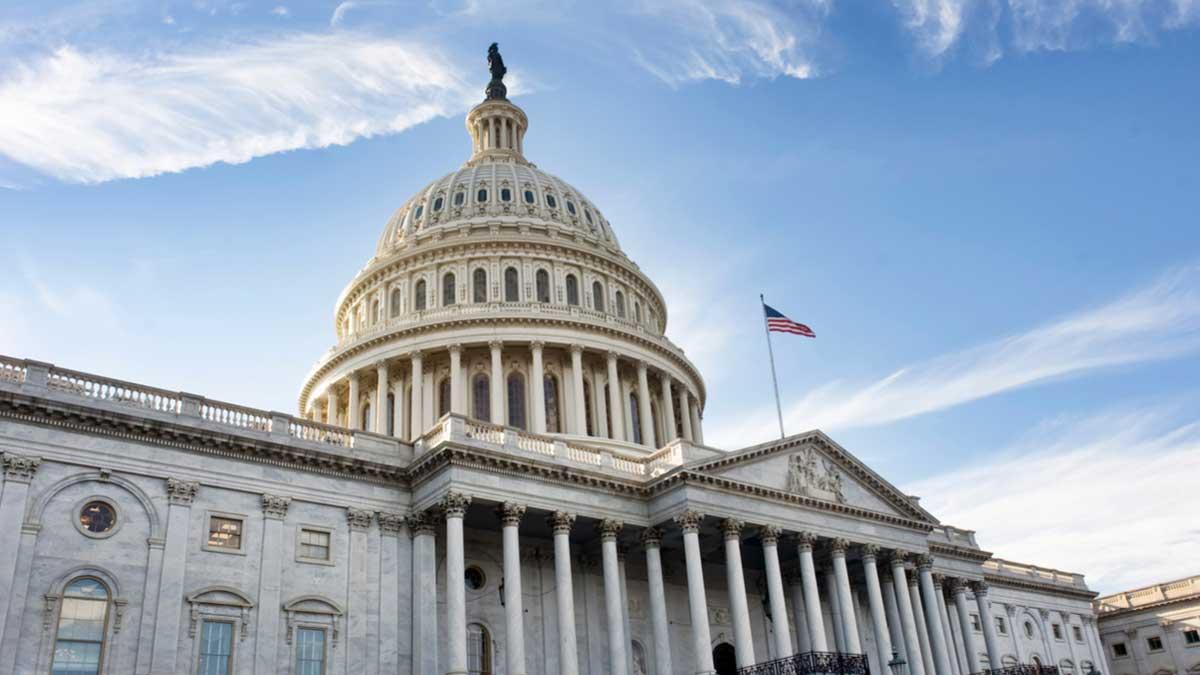 Американское столичное здание в Вашингтоне округ Колумбия