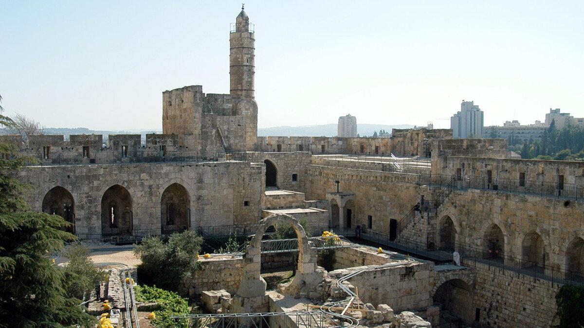 Археологический парк у подножья Башни Давида