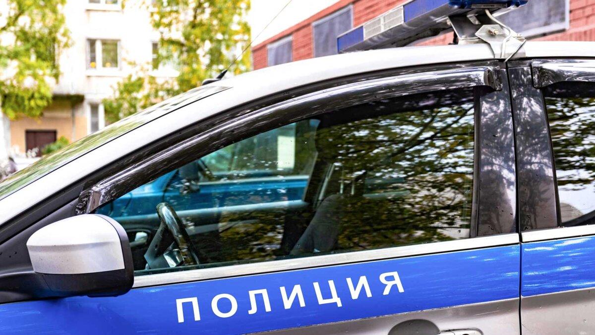 Автомобиль полиция Russian patrol car, the inscription police