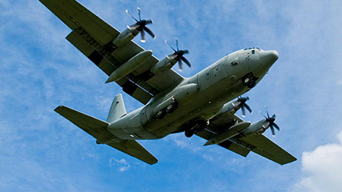 Американский США самолёт наблюдения C-130 Hercules Договор по открытому небу