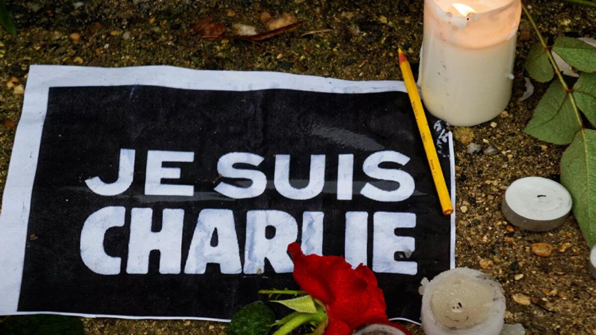 Память жертв журнала Charlie Hebdo во Франции теракт
