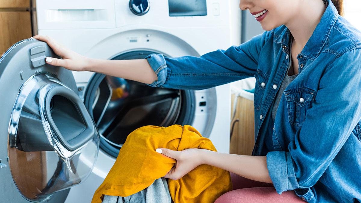 стирка белья домохозяйка стиральная машина
