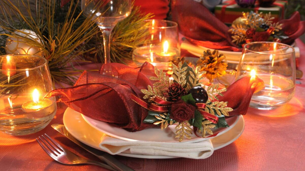 Новый год новогодний стол сервировка