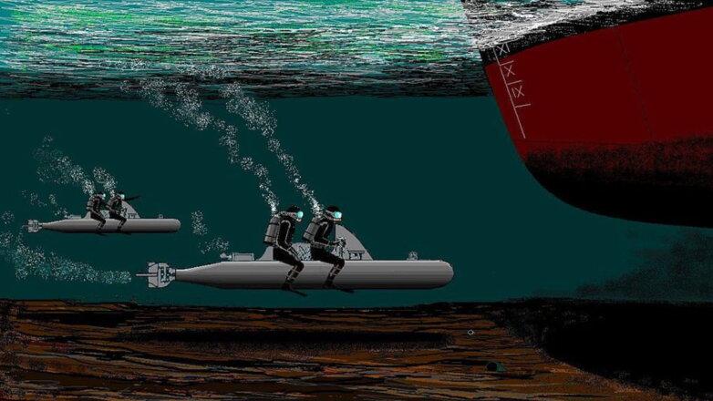 Экипажи Майале ведут свои торпеды к цели во вражеской гавани