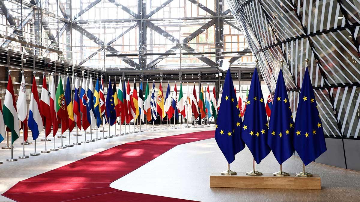 Евросоюз флаги Брюссель