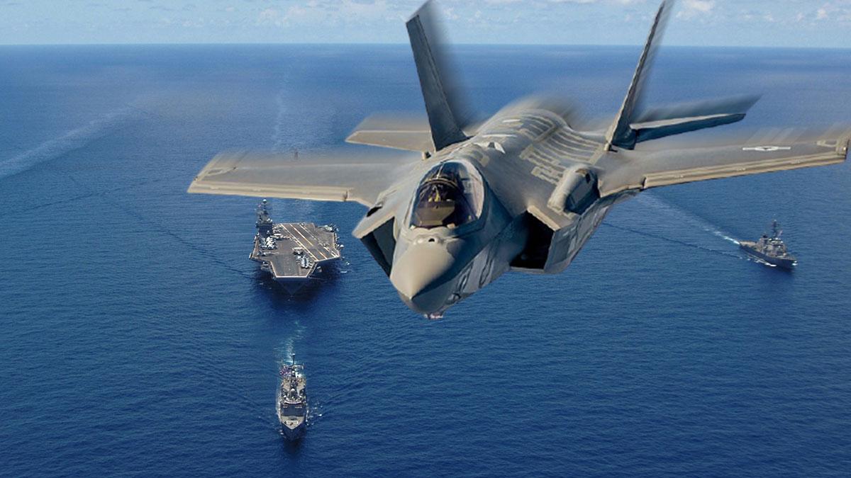 истребитель F-35C Lightning II авианосец
