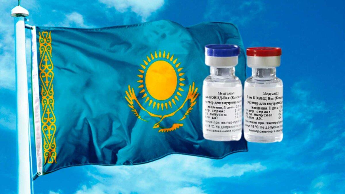 Флаги казахстан коронавирус ковид вектор V