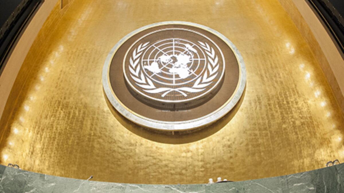 Генассамблея ООН логотип