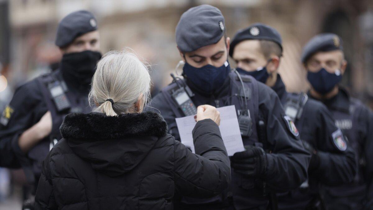 Германия полиция в масках