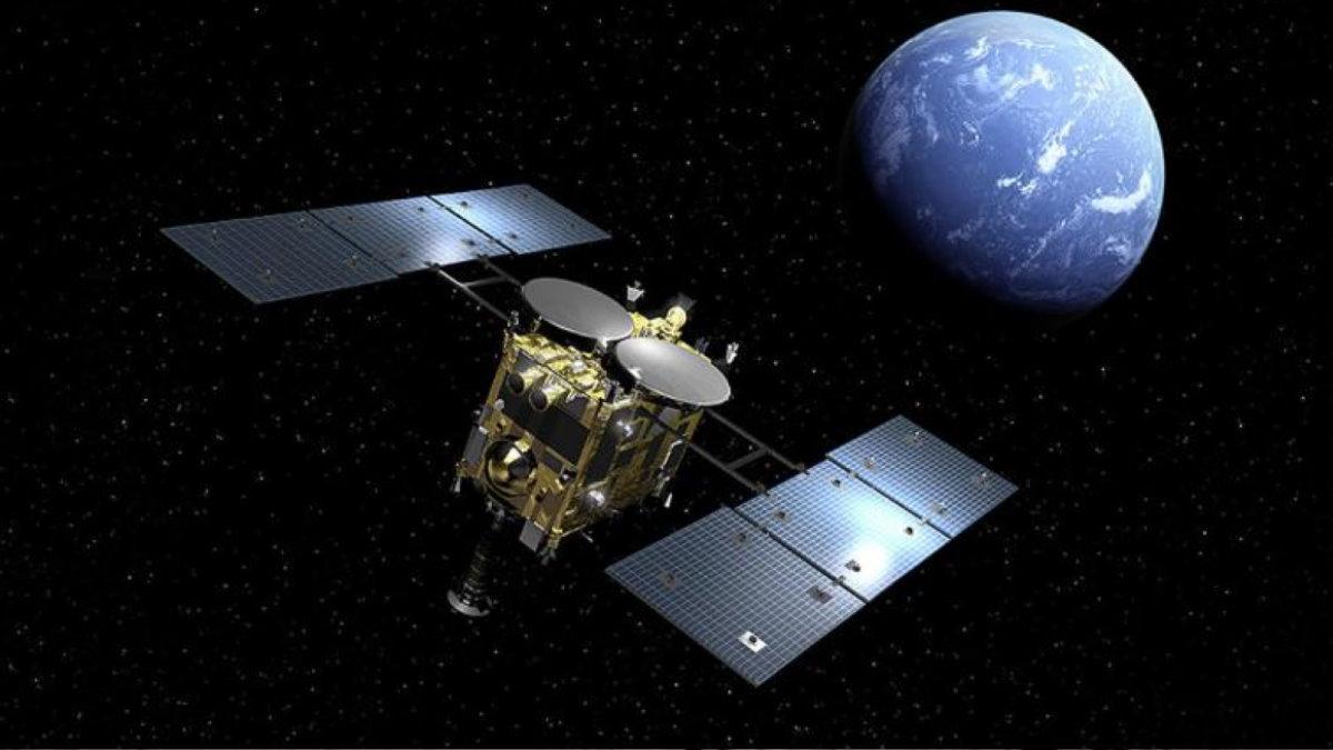 Японский космический зонд Хаябуса-2 и планета Земля