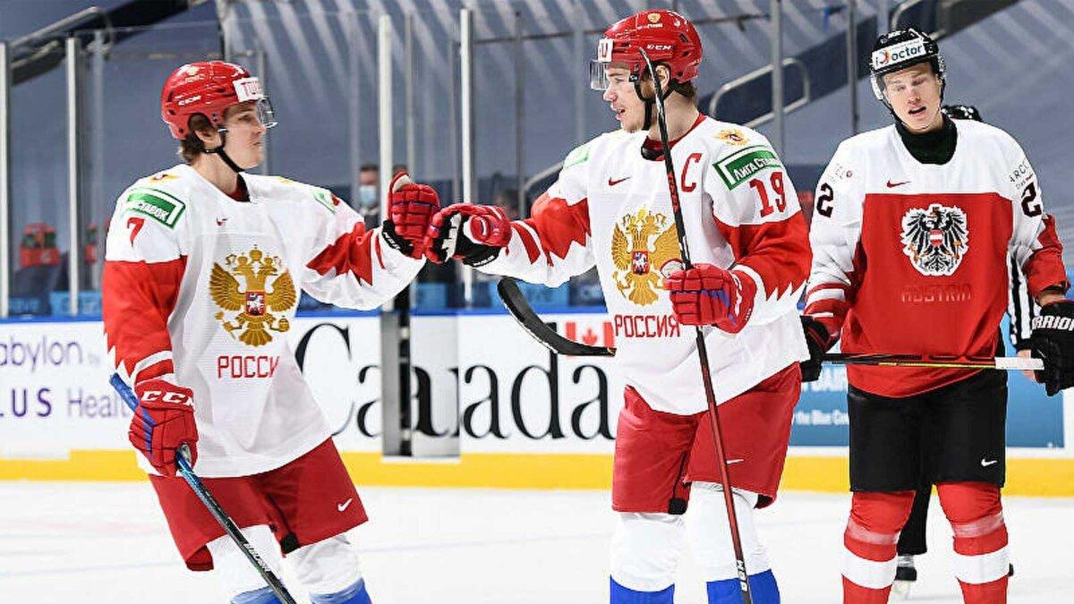 Хоккей МЧМ Россия Австрия