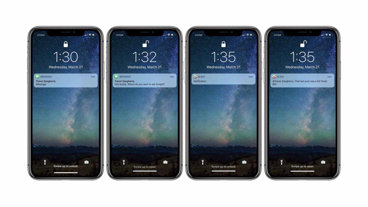 уведомление о сообщениях на iphone