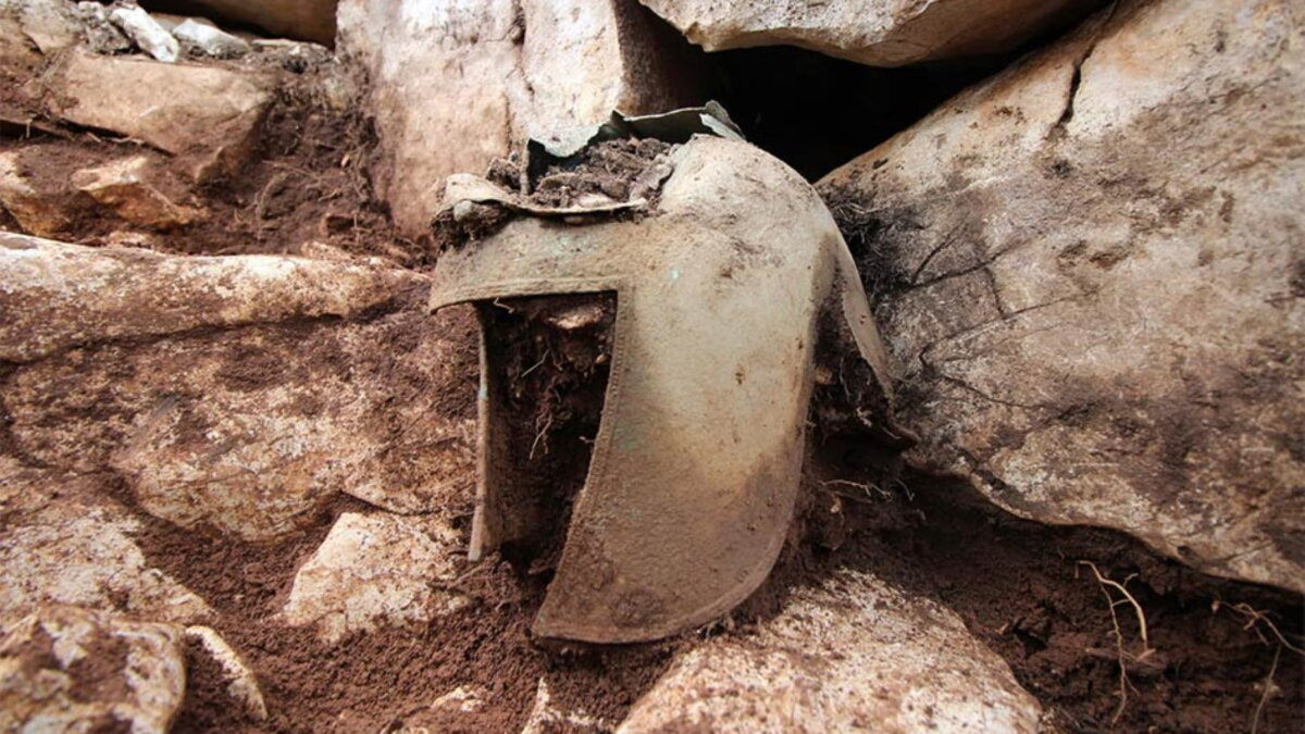 Иллирийский военный шлем Хорватия археология