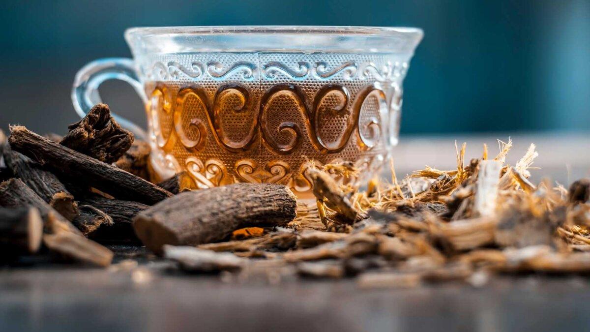 Лакрица Ayurvedic herb Liquorice root Licorice root