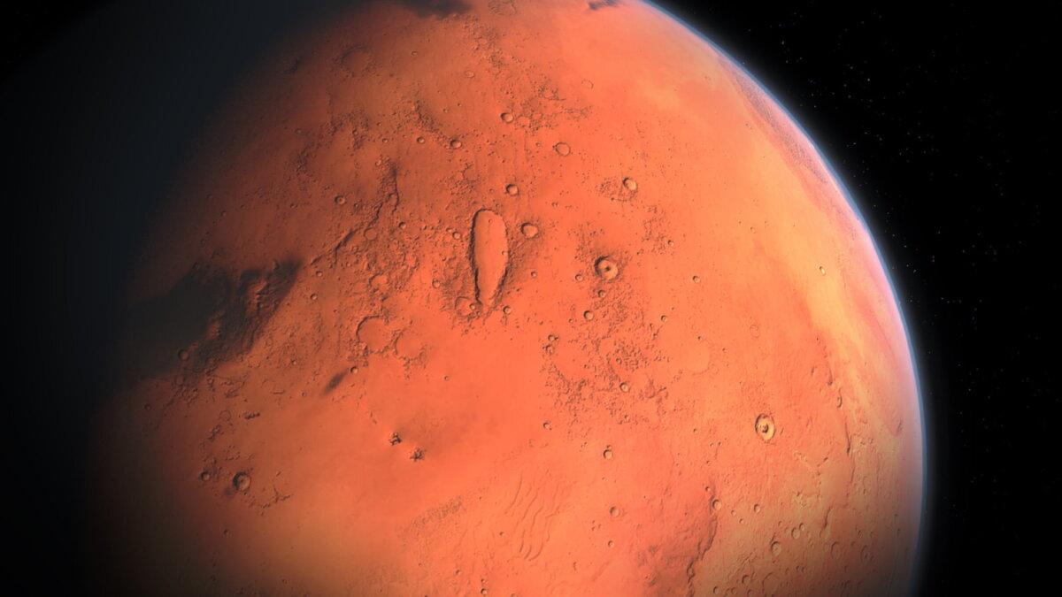 Планета Марс близко один