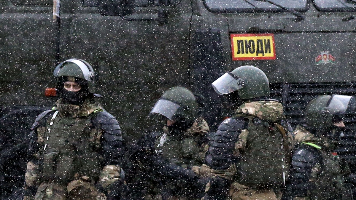 Минск силовики протесты