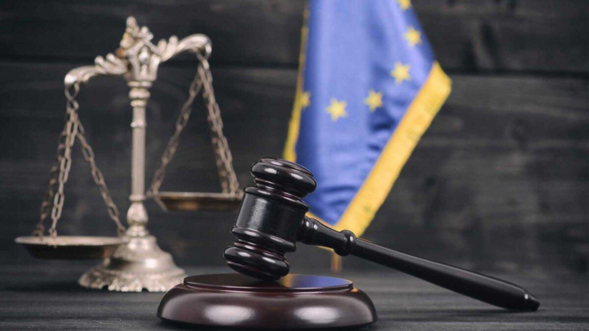 Молоток суд флаг ЕС the European Union