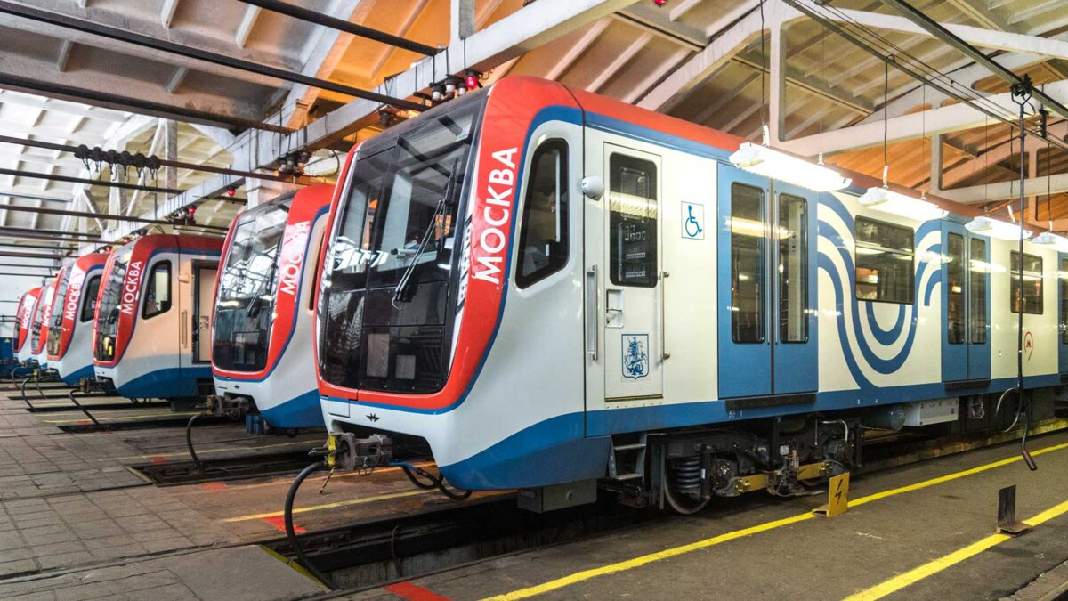 Москва метро вагоны состав