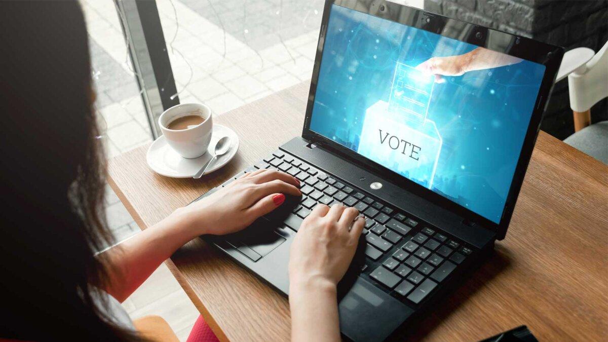 Онлайн голосование ноутбук Online voting