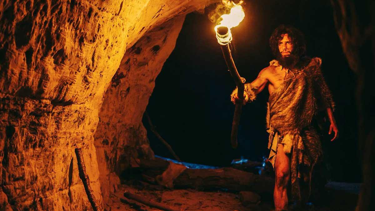 Первобытный огонь мужчина пещера primeval fire