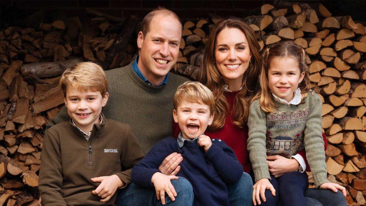 Рождественская открытка Кейт и Уильяма