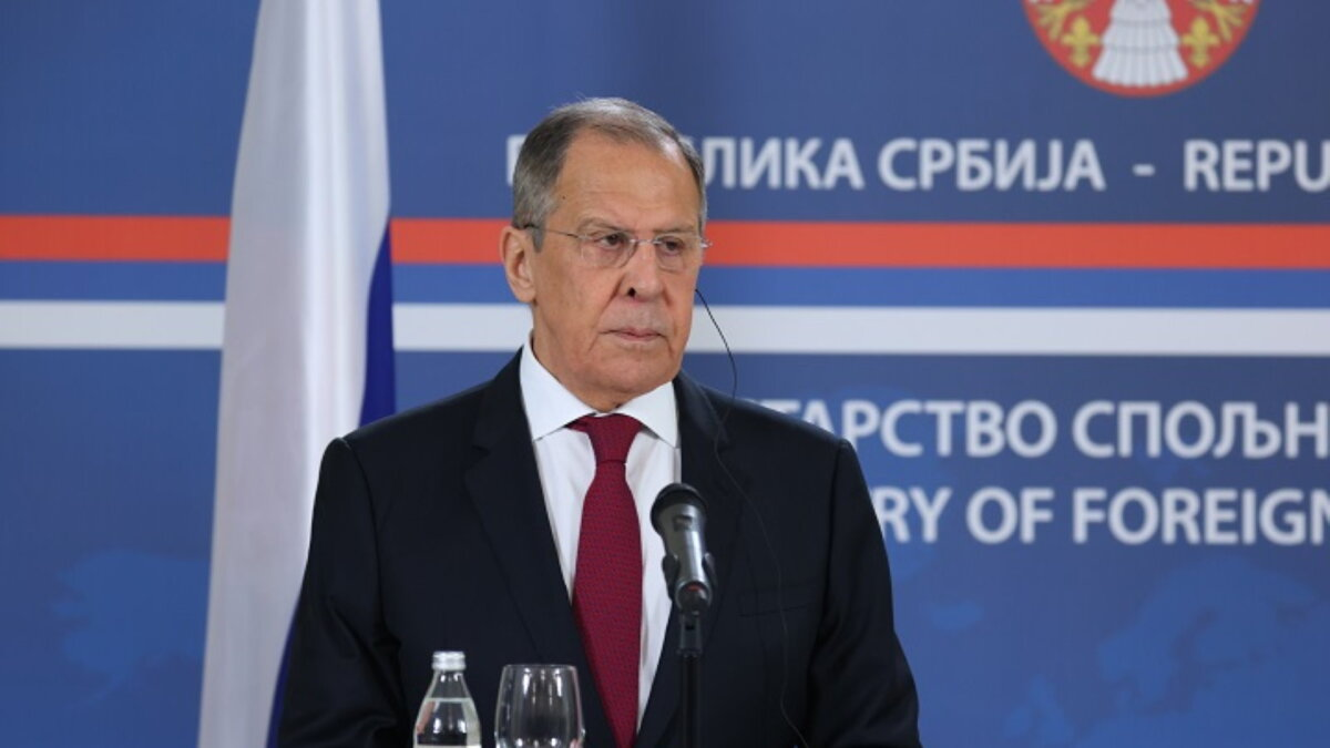 Сергей Лавров на пресс-конференции по итогам переговоров с президентом Сербии Александаром Вучичем