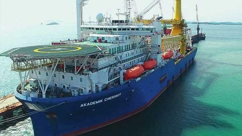 Судно Академик Черский Pipe-laying vessel Akademik Chersky
