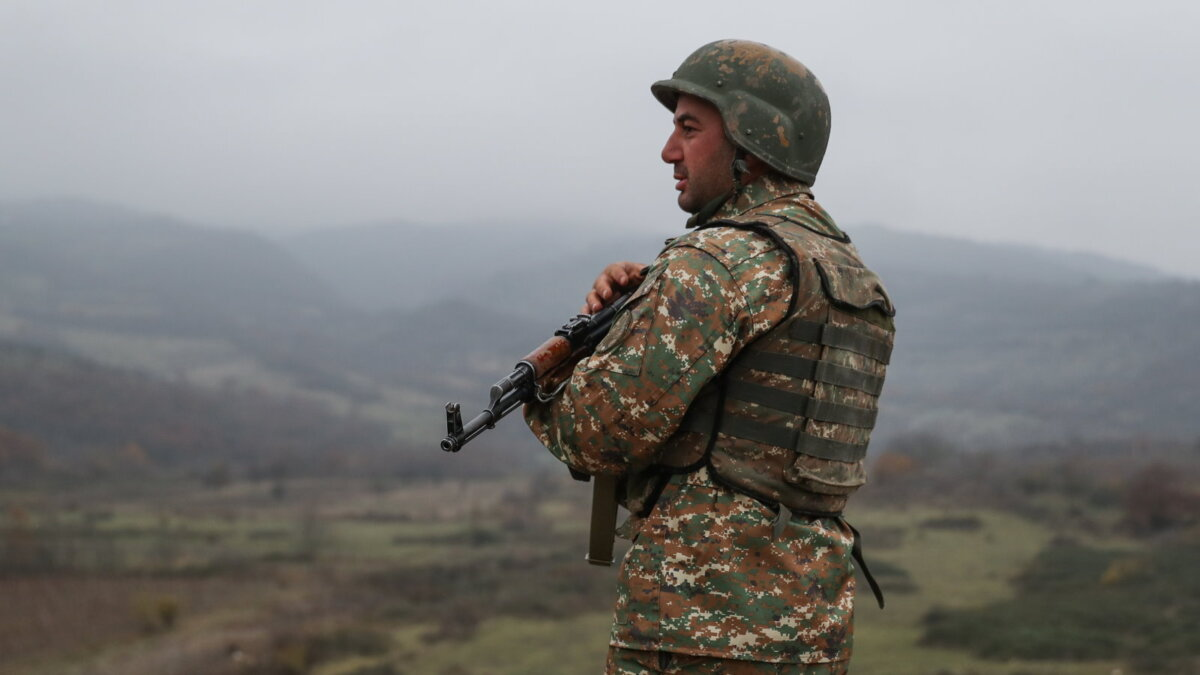 Нагорный Карабах конфликт солдат Военнослужащий Нагорного Карабаха